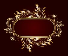 Free Golden Floral Frame Royalty Free Stock Photo - 15832965