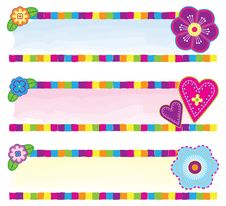 Free Floral Banners Royalty Free Stock Images - 15833049