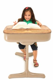 Free Girl In Desk Stock Images - 15833054