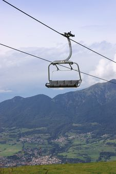 Free Chair-lift In The Italian Alps On A Cloudy Day Stock Photo - 15833750