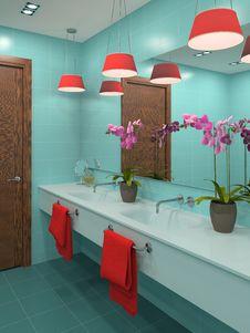 Free Modern Bathroom. Royalty Free Stock Photography - 15833787