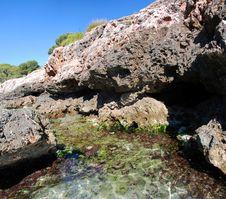 Free Panoramic Detail Cala Sa Nau (Mallorca) Royalty Free Stock Photo - 15833865