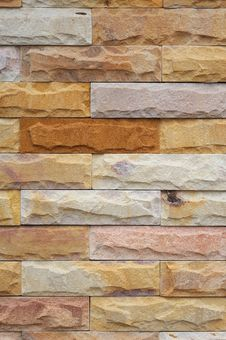 Sandstone Wall Royalty Free Stock Images