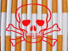 Free Danger Cigarettes Royalty Free Stock Photography - 15834097