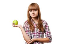 Free Girl With Apple Royalty Free Stock Images - 15834579
