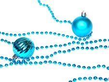 Free Christmas Blue Ball Stock Photos - 15834833