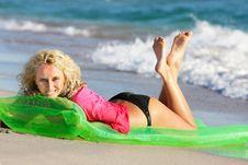 Free Beautiful Woman On Beach Royalty Free Stock Image - 15835016