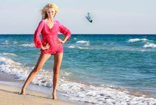 Free Beautiful Woman On Beach Stock Photography - 15835032