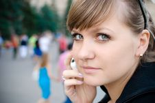 Young Girl Talking On The Phone Royalty Free Stock Images