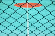 Free Tennis Court Behind Surround Net Royalty Free Stock Photo - 15836735