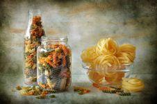 Still Life With Macaronis Stock Photos