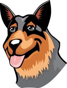 Free Australian Cattle Dog Cartoon Stock Image - 15838011