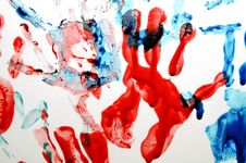 Free Colorful Hand Prints Stock Photos - 15838163