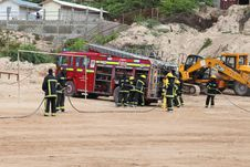Free 2013_07_06_Firemen_Demonstration_E Stock Photography - 158371502