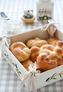 Free Tied Buns  Over Bread Plate With Butter Royalty Free Stock Photo - 15840795