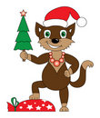 Free Christmas Cat Royalty Free Stock Images - 15842619