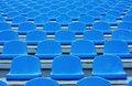 Free Empty Blue Plastic Stadium Seats Royalty Free Stock Photos - 15849478