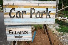 Free Sign Car Park Entrance Royalty Free Stock Photo - 15840595