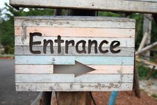 Free Sign Entrance Stock Images - 15840634
