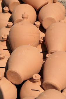 Free Stall Of Raw Pottery Stock Photos - 15841043
