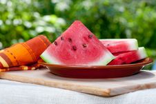 Free Fresh Watermelon Royalty Free Stock Photography - 15841277