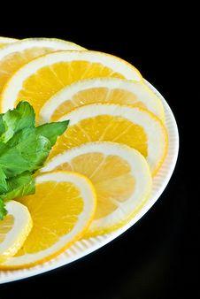 Free Slices Of Lemon And Orange Stock Image - 15841321