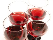 Free Red Wine Glasses Stock Photography - 15841482