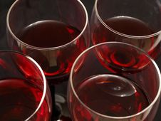 Free Red Wine Glasses Stock Image - 15841601