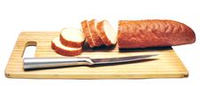 Free Baguette Sliced With A Knife Stock Photo - 15841760