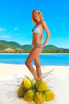 Free Woman On The Beach Stock Photo - 15841830