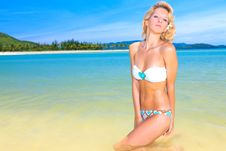 Free Woman On The Beach Royalty Free Stock Images - 15841869