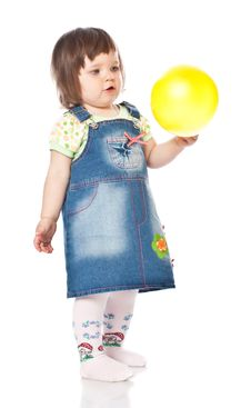 Free Little Girl With Balloon Royalty Free Stock Photos - 15841968