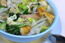 Free Chinese Vegetarian Noodle Soup Royalty Free Stock Photo - 15842315