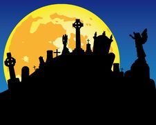 Free Cemetery By Night Stock Photography - 15842612
