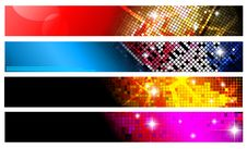 Free Set Of Horizontal Banners | Party Collection. Stock Photography - 15843422