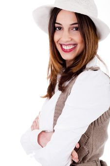 Free Smiling Brunette Model Side Pose Stock Image - 15843931