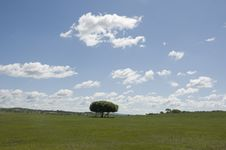Free Clouds Over Prairie Stock Photography - 15843992