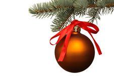 Free Matte Christmas Ball. Stock Photos - 15844173