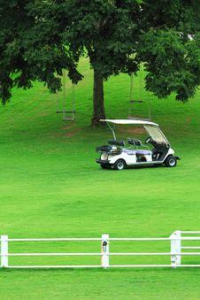 Free Green Golf Carts Stock Image - 15844211