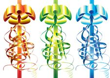 Free Set Of Multicolor Bows Royalty Free Stock Photo - 15844545