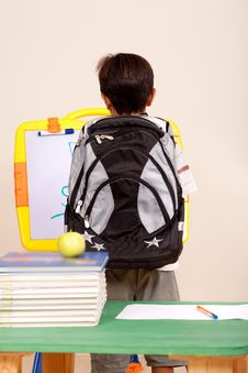 Free Rear View Of A Smart School Kid Royalty Free Stock Photo - 15844735
