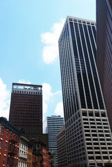 Free View From Below On Manhattan Stock Photography - 15845022