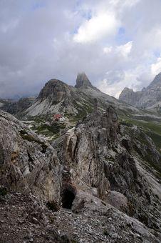 Landscape Dolomites - Tre Cime Di Lavaredo Royalty Free Stock Photo
