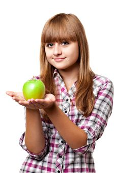 Free Girl With Apple Royalty Free Stock Photography - 15847667