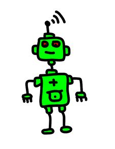 Free Green Robot Royalty Free Stock Photography - 15848087