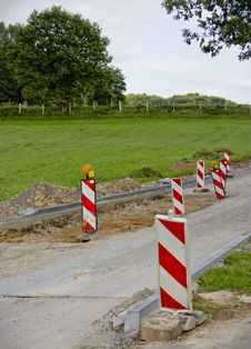 Road Reconstruction Stock Image