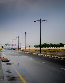 Free Dubai A Rainy Day Stock Images - 15848594