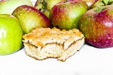 Free Bitten Apple Pie And Red And Green Apples Stock Photography - 15848612