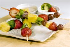 Free Fruit Kabobs Royalty Free Stock Photo - 15849325