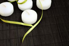 White Candles Royalty Free Stock Image